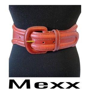 Mexx Wide Waist Cow Leather Belt Size Medium